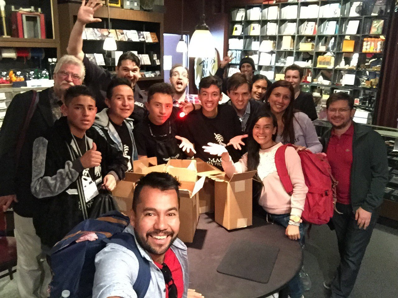 Kids of Magicians Without Borders in Tannen's magic in New york city